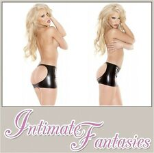 Ladies Sexy Wet Look Spanking Open Skirt Outfit Dominatrix Outfit Size 10 12 14