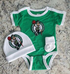 Celtics newborn/baby clothes Celtics baby gift Boston basketball baby clothes