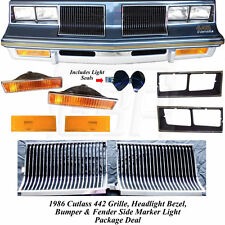 86 442 Grille Headlight Bezel Bumper Turn Light Side Marker Lamp & seal SET
