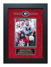 David Pollack David Greene Georgia Bulldogs Autographed Framed 8x10 Photo UgaVI