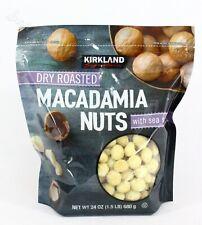 Kirkland Dry Roasted Macadamia Nuts with Sea Salt 24Oz Sealed bag Exp:12/2021