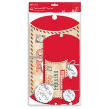 4x Surtido Regalo Almohada Fundas Navidad temático con a juego etiquetas