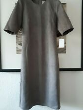 ANNE KLEIN Faux Suede Dress Size 12UK 40EUR 8USA Grey NEW