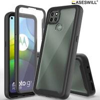 For Motorola Moto G9 Power Case Full-Body Clear Back Shockproof Phone Cover