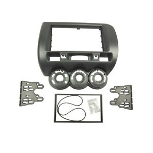 Radio Fascia for Honda Jazz 2 Din Stereo Panel DVD Frame Kit Manual A/C RHD