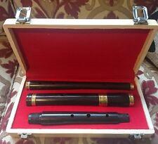 Irish Professionale Nuovo di Zecca D Flauto Ebony/African BLACKWOOD + custodia rigida in legno