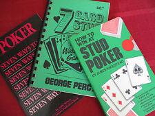 Poker Stud Poker Gambling Vintage Lot Winning Card Games 1979