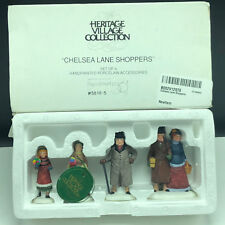 Department 56 Christmas Snow Village Collection figurines Chelsea Lane Shoppers