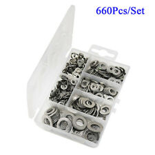 660X Stainless Steel Ultra-thin Flat Washers For M3 M4 M5 M6 M8 M10 Screws Bolt