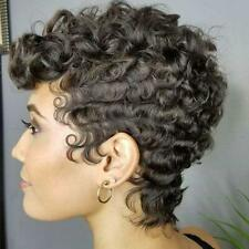 Black Short Curly Wigs Natural Synthetic Hair Afro African Women Wig New