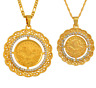 Turks Pendant Necklace Arab Arabic Coin Turkish Turkey Muslim Coins Jewelry Gold
