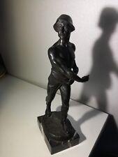 Franz Iffland der Sämann Bronze Marmor 34cm 3kg samann Sämann Statue Skulptur