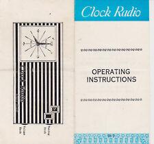 F243-CLOK RADIO SOLID STATE ISTRUZIONI PER L'USO