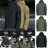 Men Winter Outdoor Waterproof Jacket Coat Soft Shell Tactical Military Overcoat
