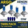 4 X H7 55w Super Azul Fresco Actualizacion Xenon Faro Bombillas Juego 499 12v