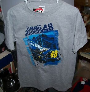 VINTAGE CHASE #48 LOWES GRAY YOUTH TEE SHIRT JIMMIE JOHNSON LARGE NWT