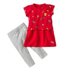 Vestidos de niña de 2 a 16 años de manga corta en rojo 100% algodón