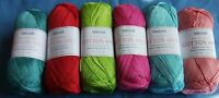 5 x 100g Sirdar 100% Cotton 4ply Wool/Yarn for Knitting/Crochet