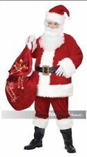 Red Velvet Santa Clause Deluxe 6pc Suit Christmas Saint Nick Costume S/M