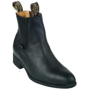 Men's Wild West Botin Charro Short Ankle Boots Handcrafted
