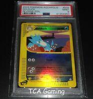 PSA 9 MINT Golduck 50a/147 Aquapolis Set REVERSE HOLO Pokemon Card