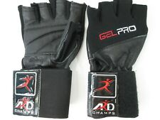Nds Gel Pro Weight Lifting Gloves Bodybuilding Padded Workout Gym Gloves Large