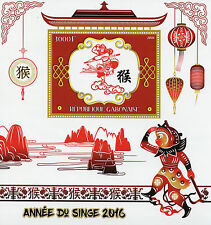 Gabon 2016 MNH Year of Monkey 1v S/S Chinese Lunar New Year Stamps