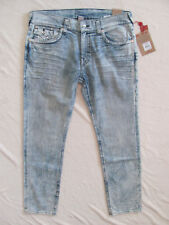True Religion Skinny Jeans-Flap Pockets-Blizzard Rock/Bleached-Size 38-NWT $229