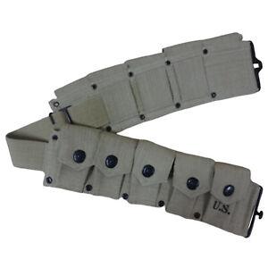 U.S. WWII Garand Rifle Ammunition Belt / WW2 Belts y101