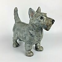 "Cast Iron Scottish Terrier Scottie Dog 8"" Doorstop Paperweight Vtg Décor Gift"