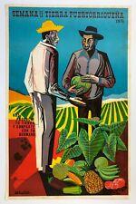 Eduardo Vera Cortes Cartel Serigraph Semana De La Tierra 1975 Puerto Rico Signed