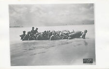 WWII 1940's USMC Off'icial Photo No17 Marines & wounded on raft off beach attack