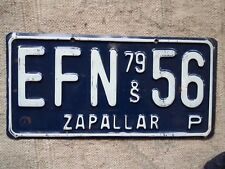 ZAPALLAR, CHILE License Plate Tag - 1979 - Low Shipping