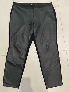 Eileen Fisher Plus Size Black Genuine Leather Legging Pant 3x