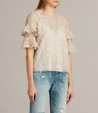 BNWT ALL SAINTS HENRIETTA TOP, OYSTER WHITE, SIZE 10