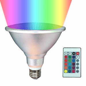 PAR38 LED Light Bulb,20W LED Flood Light Outdoor/Indoor,Dimmable RGB Color with