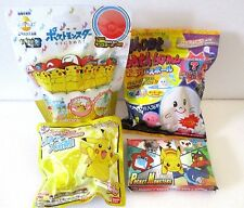 Japanese Bath ball bomb POKEMON & Ghost inside Mascot  SET OF 4 Halloween Gift!