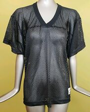 Alleson Athletic Mesh Football Practice Jersey Black Adult Size M