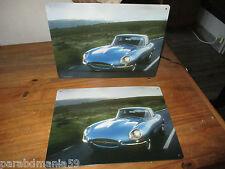 Vente lot  plaques métal-voiture Jaguar-28,5 cm x21 cm