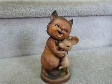 """Vintage Anri Ferrandiz Figure Cat & Mouse New Friends 6.25"""""""
