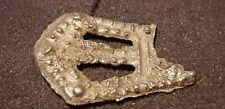 Saxon silver decorated adornment beautiful partifact found in Britain 1970s L53m