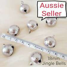 X LARGE 18mm SILVER Jingle Bell DIY Charm Craft dog cat animal collar BULK bells