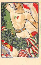 4541) FIRENZE 1924, XII CONCORSO GINNASTICO FEDERALE, ILLUSTRATORE CHINI.