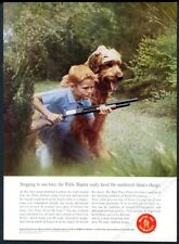 1963 Mattel Dick Tracy Power Jet Gun boy and dog photo vintage print ad