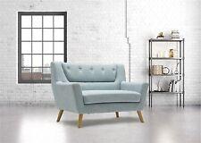 Birlea Lambeth 2 Seater Medium Sofa Settee Scandinavian Retro - Duck Egg Blue
