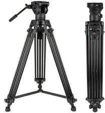 CAYER Video Tripod System, BV30L 72 inch- Professional Heavy Duty Aluminum Twin