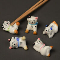 Cat Chopstick Rest Japanese Ceramic Animal Holder Spoon Fork Knife Stand Rack