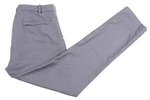 Lululemon Gray Stretch NYLON COTTON Zip Pockets Flat Front Casual Dress Pants 36