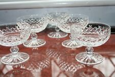 """5 WATERFORD CRYSTAL """"BOYNE"""" LOW CHAMPAGNE GLASSES EXCELLENT COND. 3.3/8"""" TALL"""