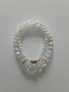 Vintage1950s Aurora Borealis Crystal Necklace